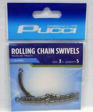 P-Line P5RC3-5 Pucci 5 Barrel Rolling Chain Fishing Swivels Package of 5 Size 3