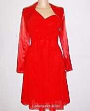 Festliche knielange Damenkleider mit Trägern ohne Muster