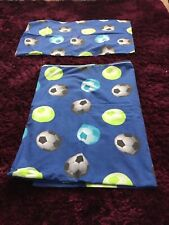 Single Quilt Cover And Pilowcase Football Design