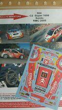 DECALS 1/24 REF 904 CITROEN C2 S1600 SORDO RALLYE MONTE CARLO 2005 RALLY WRC