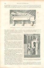 Emmaillotement Les Berceaux Enfant Emmailloté Nourrice GRAVURE PRINT 1888