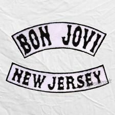 Jon Bon Jovi Embroidered Patches New Jersey Jacket Rock Band Sambora Richie