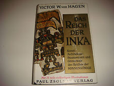 Das Reich Der Inka, HC Book, Dust Jacket, Copyright 1958, With Illustrations