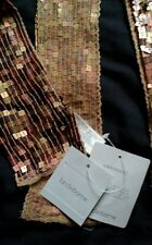 Liz Claiborne 76 inch Multi copper, Bronze colored tile scarf New with tags