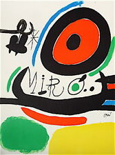 MIRO Joan Lithographie Originale sur velin signée 1970 art abstrait abstraction