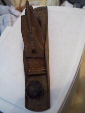 "ANTIQUE VINTAGE WOOD PLANE METAL PLANER 15"" LONG MUST SEE PICTURES NO CLUE HERE*"