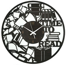 OROLOGIO DA PARETE Grande 40x40 - Time To Read - Libro Lettura Biblioteca Regalo