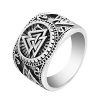 Valknut Viking Signet Ring Personality Women Men Punk Ring Viking Jewelry Gifts
