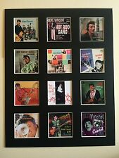 "GENE VINCENT LP DISCOGRAPHY PICTURE MOUNTED 14"" By 11"" Free Postage"
