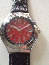 "SWATCH WATCH ""HAPPY JOE RED"" VERY RARENEW COLLECTABLE MINT YGS408 GREAT GIFT NIB"
