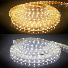 230V 5M LED Strip Lichtleiste 5050 SMD Lichtband Licht Schlauch Streifen IP65