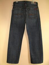 $169 Men's Seven 7 For All Mankind Relaxed Straight Leg Jeans New York Dark 30
