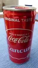COCA-COLA COKE CAN POLAND POLISH CANCUN CANCÚN FULL & NEW