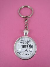 Twinkle Little Star How Loved You Are Silver Plated Keyring New in Gift Bag