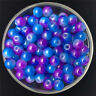 30PCS 8mm Double Color Glass Round Pearl Spacer Loose Beads Jewelry Making 26