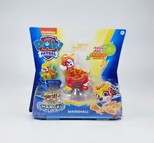 NEW Paw Patrol Mighty Pups Charged Up Marshall Figure Fire Pup Spin Master
