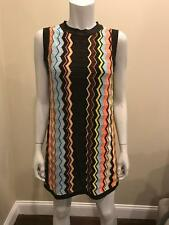 MISSONI For Target Knit Sleeveless Zig Zag Colore Stripe Sweater Dress S 2 4 US