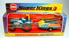 Superking k-3 mod tractor & tráiler metalizado azul top en Box