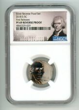 2018 S JEFFERSON NICKEL 5C REVERSE PROOF NGC PF 69 FIRST RELEASES 29-029