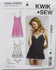 Kwik Sew 3554 Misses Slips & Panties Sewing Pattern Sz XS-XL