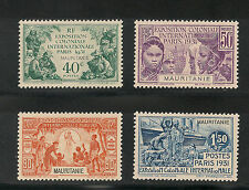 Mauritania  #65-68 VF MINT VLH - 1931 40c To 1.50fr Paris Exposition SCV $24.50