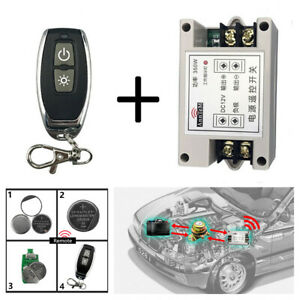 12V Car Wireless Remote Control Battery Disconnect Isolator Master Kill Switch