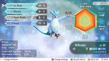 Pokemon Let's Go Pikachu & Eevee - Shiny Legendary Pokemon - 6IV - Articuno