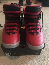 Air Jordan 10 Retro 30TH Bulls Over Broadway Gym Red Black 705179-601 Size 6.5Y