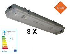 8 X LED Fassung 150cm Feuchtraumleuchte IP65 für T8 G13 Röhren Rohre Art.HRS-T20