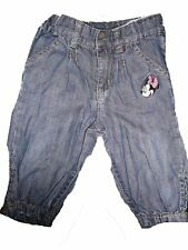 H & M tolle Jeans Hose Gr. 68 mit Minnie Maus Stickerei !!