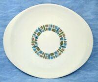 "Canonsburg Pottery Temporana large serving platter MCM Atomic 13.75"" vintage"