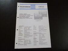 Original Service Manual Telefunken P 300 P 301