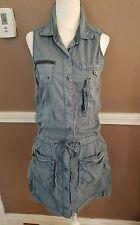 Amazing Sleeveless Blue Button-Up Dress by Wyatt!! Size Small!!