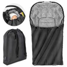 Universal Fußsack für Babyschale (z.B. Maxi-Cosi) Winterfußsack Schwarz Grau