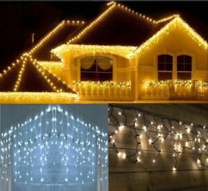 CHRISTMAS 200/240/360/480/720/1200 LED ICICLE SNOWING EFFECT XMAS LIGHT OUTDOOR