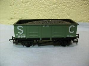 20t Steel Mineral Wagon & Load 'S C' Green Livery Hornby No R.730 '00' Light Use