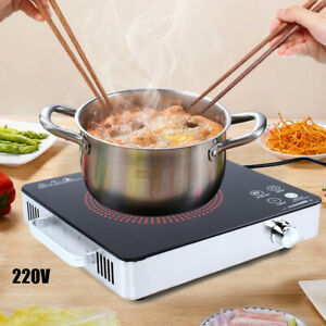 1 Burner Electric Ceramic Stove Top Cooktop 2200W Electric Ceramic Hob Portable