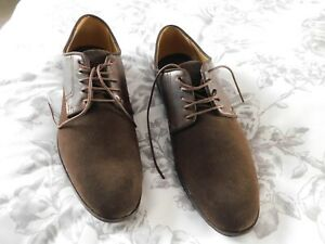 MEN;S SUEDE AND LEATHER DARK BROWN SHOES SIZE 12