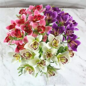 1Pc Artificial Orchid Silk Flowers Fake Floral Plants Party Wedding Home Decor