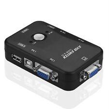 KVM Switch Box 2 Port USB 2.0  für bis zu 2 Computer VGA,Tastatur, Maus, Monitor