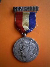 George V And Queen Mary Reigned For 25 Years Anniversary Medal And Ribbon