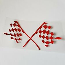Red Chequered Flag Sticker Vinyl for SMART Car ForTwo ForFour Roadster Coupe