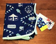 Kickee Pants Boy Flag Blue Carnival Swaddling Blanket Swaddle New
