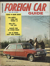 FOREIGN CAR GUIDE FEATURING VOLKSWAGEN  1968 Fiat 124S Simca 1000 Renault 16  c