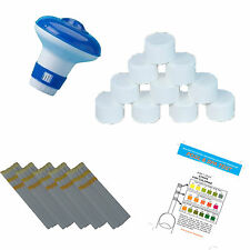 Quality* intex Dispenser with 10 Chlorine Tablets 20g + Test Strips