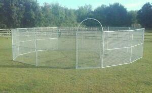 30' mesh round pen horse lunge, turnout pen