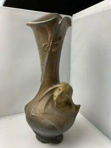 Art Nouveau Helene Sibeud Gilded Bronze Vase - No Reserve!