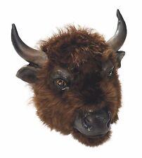 Buffalo Maschera Costume Accessorio in gomma morbida Marrone Bovina OX BULL MAMMIFERO