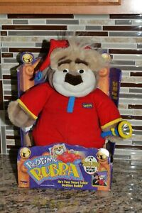 Tyco Bedtime Bubba talking bear and flashlight works NRFB 1997