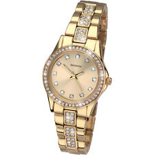 Sekonda Ladies Starfall Watch Plated Gold Stone Set Case and Bracelet 2020